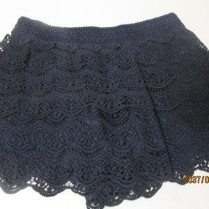 NWT Justice Crochet Shorts Navy Blue Size 14/16